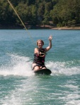 Roxy enjoyed kneeboarding.