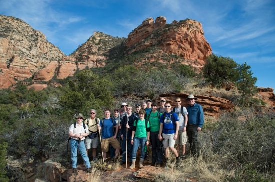 We had to stop for the first group shot of the trip. You can see Lizard Head in the middle & top of the image.
