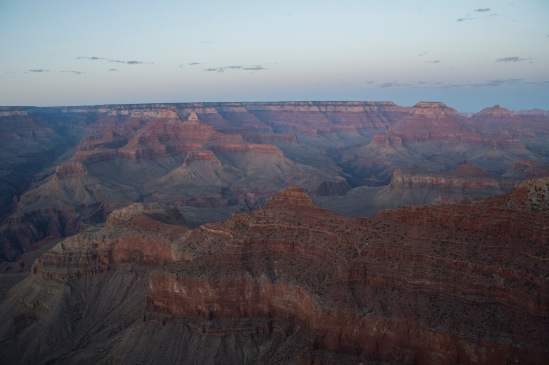 Sunset of the Grand Canyon from Mather Point.
