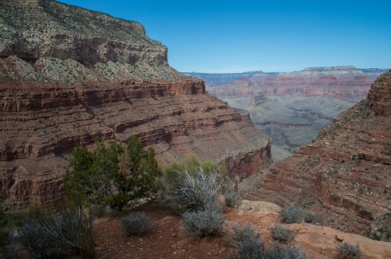 As the students made their slow walk back up the trail, I continued down the trail to get a better view of the Grand Canyon.