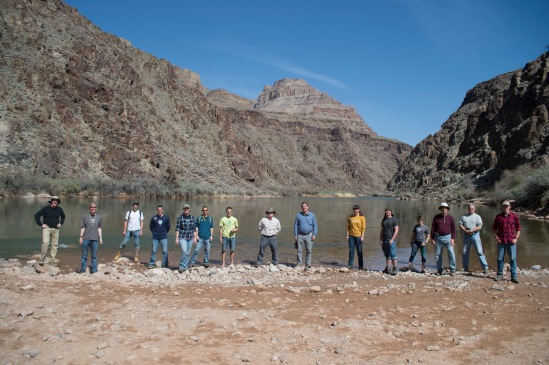 Group picture at the Colorado River. (I made it into a grp. picture)
