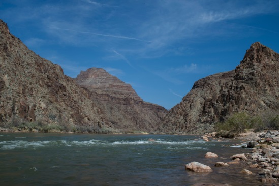 Looking up the Colorado River.