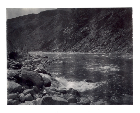 Diamond Creek & Colorado River in the Canyon - Polaroid Type 100 shot with a Polaroid SE Reporter