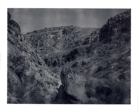 Grand Canyon / base of Hermits Trail - Polaroid Type 100 shot with a Polaroid SE Reporter