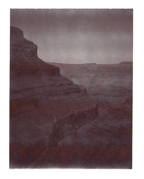 Rim of the Grand Canyon - Polaroid Type 100 shot with a Polaroid SE Reporter (underexposed)