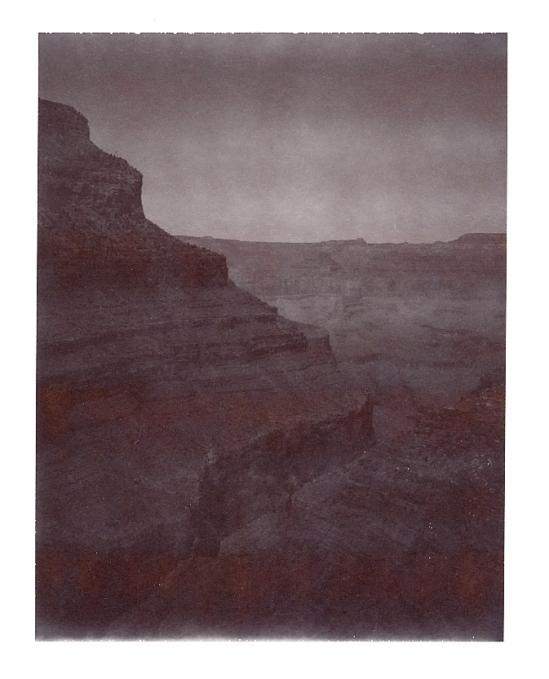 Rim of the Grand Canyon - Polaroid Type 100 shot with a Polaroid SE Reporter (underexposed)