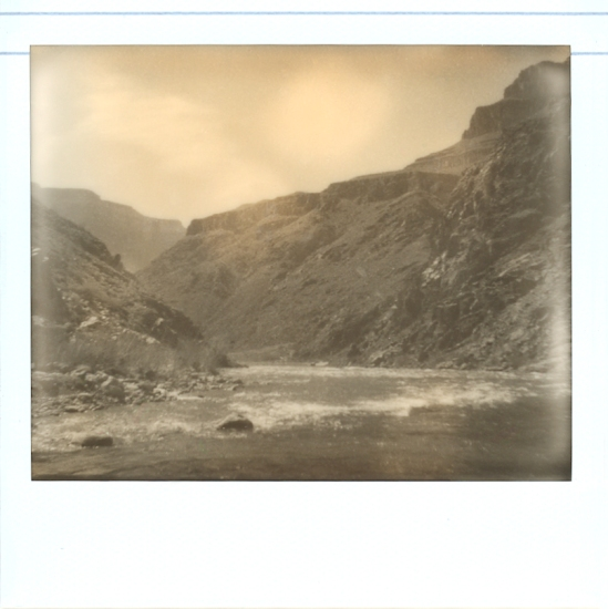 The Colorado River in the canyon - Impossible PZ 600 Silver Shade Cool shot with Polaroid Spectra