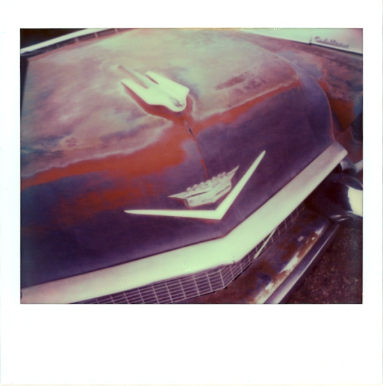 Cadillac at Kingman Auto Sales in Kingman, AZ - Impossible PZ 680 Color Protection shot with a Polaroid Spectra / Special Edition