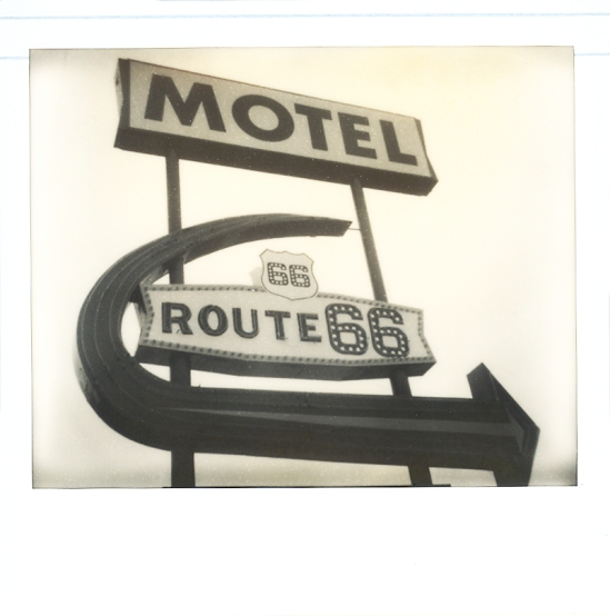 Motel Route 66 in Kingman, AZ - Impossible PZ 600 Silver Shade Cool shot with Polaroid Spectra