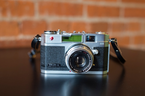 Petri Orikkor 1:2.8 f = 4.5cm lens.