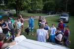 The Dean of the camp, Pete Creamer welcoming the campers and giving instructions.
