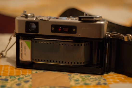 Easy to load 35mm film.
