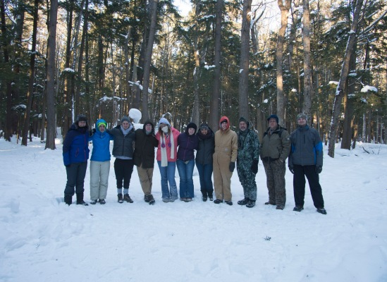 Taking another opportunity to have a group pic - in the Hartwick State Park.