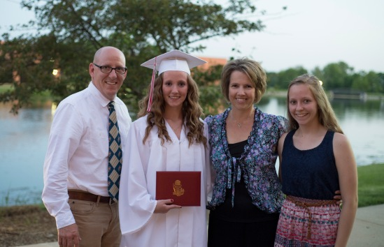 All smiles after Abby's graduation.