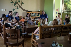 Soon after arriving at the Mak House, we had a team meeting with our Makarios hosts.