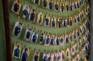 All the children at Makarios are represented on a wall at the Mak House.
