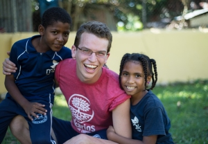 All smiles with Jesse & the children during recess.