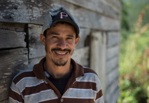 David is the farm manager at Spirit Mountain coffee farm.