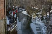 Day 009 - Massie Creek alongside Cedarville's Stoney Creek Roasters.