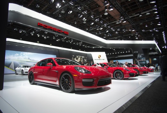Porshe showcase of all their 2015 cars.