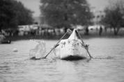 The annual Engineering cardboard canoe race