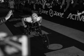 Ben crossing the finishline atthe Louisville Ironman