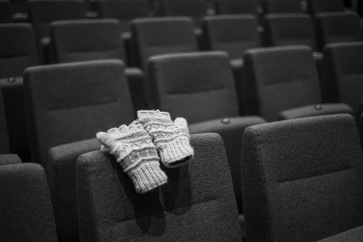 Lost lonely gloves after Chapel.