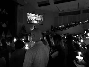 Cristian Fellowship Church Christmas Eve candle light service.