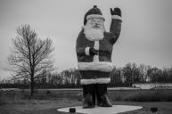 Santa Claus in Evansville.